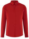 Рубашка базовая приталенная oodji #SECTION_NAME# (красный), 3B140002M/34146N/4500N