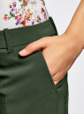 Брюки базовые со стрелками oodji для женщины (зеленый), 21701090B/42250/6E00N