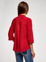 Блузка вискозная с регулировкой длины рукава oodji #SECTION_NAME# (красный), 11403225-9B/48458/4500N - вид 3