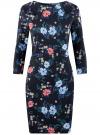 Платье облегающего силуэта на молнии oodji #SECTION_NAME# (синий), 14001105-8B/48480/7970F