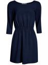 Платье вискозное с рукавом 3/4 oodji для женщины (синий), 11901153B/14897/7900N