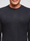 Джемпер прямого силуэта с круглым вырезом oodji #SECTION_NAME# (синий), 4L107131M/48731N/7900N - вид 4