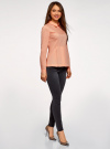 Блузка хлопковая с баской oodji #SECTION_NAME# (розовый), 13K00001-1B/42083/4300N - вид 6