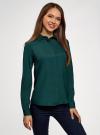 Блузка с декором на воротнике oodji #SECTION_NAME# (зеленый), 11403172-3/31427/6900N - вид 2