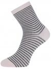 Носки базовые хлопковые oodji #SECTION_NAME# (розовый), 57102466B/47469/4025S - вид 2