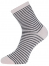 Носки базовые хлопковые oodji для женщины (розовый), 57102466B/47469/4025S - вид 2