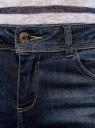 Джинсы skinny с молниями oodji для женщины (синий), 12105051/45379/7900W