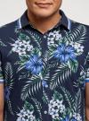 Рубашка принтованная с коротким рукавом oodji #SECTION_NAME# (синий), 5L301004M/46547N/7910F - вид 4