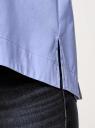 Рубашка свободного силуэта с асимметричным низом oodji #SECTION_NAME# (синий), 13K11002-1B/42785/7502N - вид 5