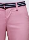 Шорты хлопковые с ремнем oodji #SECTION_NAME# (розовый), 12807089/48153/8000N - вид 4