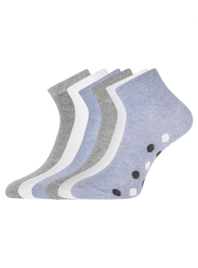 Комплект укороченных носков (6 пар) oodji для женщины (разноцветный), 57102418T6/47469/41