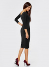 Платье облегающее с вырезом-лодочкой oodji #SECTION_NAME# (черный), 14017001-6B/47420/2900N - вид 3