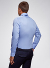 Рубашка базовая приталенная oodji для мужчины (синий), 3B140000M/34146N/7000N - вид 3