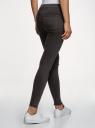 Джинсы скинни с разрезами на коленях oodji для женщины (черный), 12104067/46920/2900W