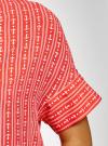 Блузка вискозная с завязками на воротнике oodji #SECTION_NAME# (розовый), 11405143/48458/4312O - вид 5