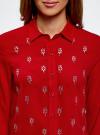 Блузка из струящейся ткани с украшением из страз oodji #SECTION_NAME# (красный), 11411128/36215/4500N - вид 4