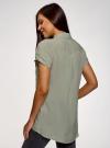 Блузка из вискозы с нагрудными карманами oodji #SECTION_NAME# (зеленый), 11400391-5B/48756/6000N - вид 3