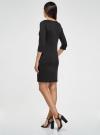 Платье трикотажное с рукавом 3/4 oodji #SECTION_NAME# (черный), 24001100-2/42408/2900N - вид 3