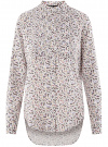 Блузка вискозная с удлиненной спинкой oodji #SECTION_NAME# (белый), 11401258-1/26346/1266O