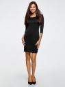 Платье трикотажное из фактурной ткани oodji #SECTION_NAME# (черный), 24001100-6/45351/2900N - вид 2