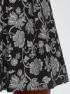 Юбка принтованная со встречными складками oodji #SECTION_NAME# (черный), 11600396-2B/45559/2912F - вид 5