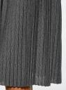 Юбка миди плиссированная oodji для женщины (черный), 14100072/46609/2991X