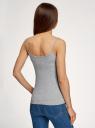 Топ трикотажный на тонких бретелях oodji для женщины (серый), 14305023-1B/46737N/2001M