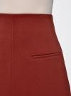 Юбка-трапеция с декоративными карманами oodji #SECTION_NAME# (красный), 11600427-1/42250/3100N