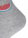 Комплект из трех пар хлопковых носков oodji #SECTION_NAME# (серый), 57102705T3/48022/31 - вид 4