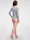 Пижама хлопковая с брюками oodji #SECTION_NAME# (разноцветный), 56002226/46154/2041E - вид 3