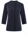 Блузка вискозная с нагрудными карманами oodji для женщины (синий), 11403225-7B/42540/7900N