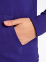 Толстовка с капюшоном и карманами oodji для женщины (синий), 16901079-2B/46934/7501N