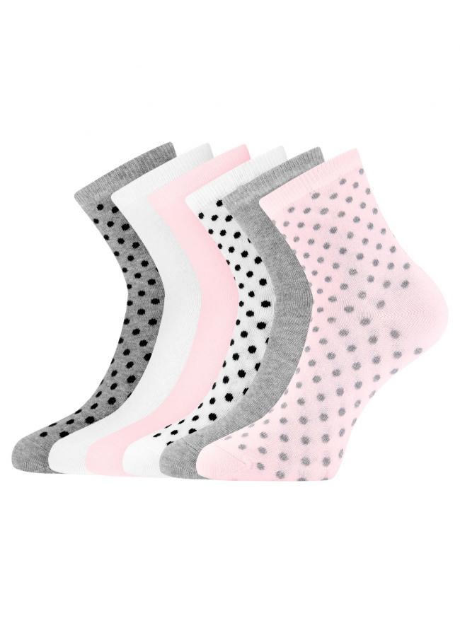Комплект из шести пар носков oodji для женщины (разноцветный), 57102466T6/47469/19CRN