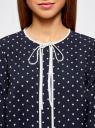 Блузка прямого силуэта с завязками oodji #SECTION_NAME# (синий), 11401267/42405/7912G - вид 4
