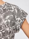 Футболка хлопковая принтованная oodji для женщины (слоновая кость), 14707001-23/46154/3029E