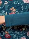 Свитшот с принтом на фактурной ткани oodji #SECTION_NAME# (зеленый), 14801010-8/19808/6C4AF - вид 5