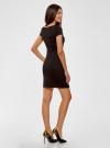 Платье из фактурной ткани с вырезом-лодочкой oodji #SECTION_NAME# (черный), 14001117-11B/45211/2900N - вид 3
