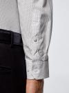 Рубашка приталенная в горошек oodji для мужчины (белый), 3B110016M/19370N/1079D - вид 5