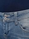 Джинсы slim fit с низкой посадкой oodji для женщины (синий), 12103112/33636/7000W