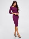 Платье облегающее с вырезом-лодочкой oodji #SECTION_NAME# (фиолетовый), 14017001-6B/47420/8300N - вид 6