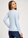 Джемпер фактурный приталенного силуэта oodji для женщины (синий), 63812672/33506/7000M