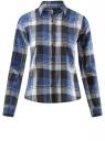 Рубашка хлопковая в клетку oodji для женщины (серый), 21411082/43746/2575C