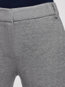 Брюки трикотажные облегающего силуэта oodji #SECTION_NAME# (серый), 18601009/48596/2512J - вид 4