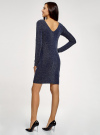 Платье обтягивающее из блестящей ткани oodji для женщины (синий), 14000165-1/46124/7902X - вид 3