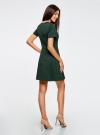 Платье жаккардовое с коротким рукавом oodji для женщины (зеленый), 11902161/45826/6900N - вид 3