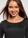 Платье трикотажное облегающего силуэта oodji #SECTION_NAME# (черный), 14001121-4B/46943/2912D - вид 4