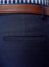 Брюки классические со средней посадкой oodji для мужчины (синий), 2B210016M/46317N/7800N - вид 5