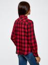 Рубашка хлопковая с нагрудными карманами oodji для женщины (красный), 13L00001/43223/2945C