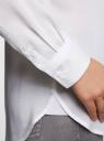 Блузка базовая из вискозы oodji #SECTION_NAME# (белый), 21412129-1/24681/1000N - вид 5