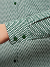 Блузка прямого силуэта с нагрудным карманом oodji #SECTION_NAME# (зеленый), 11411134B/46123/6E12G - вид 5